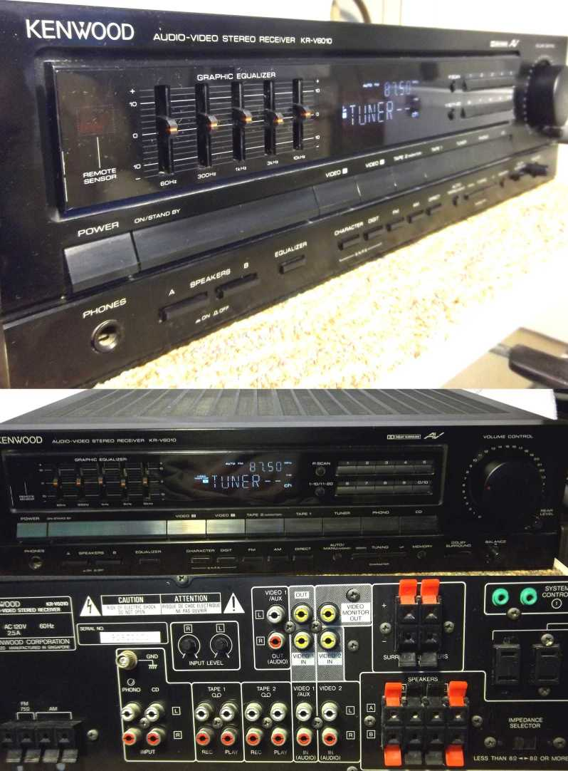 Kenwood KRV6010 Audio Video Stereo Receiver stereos receivers audio video amplifiers