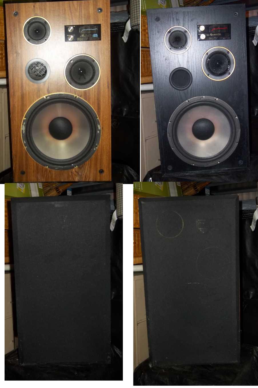 Pair of 3 way 100 watt ported speakers  SPEAKERS