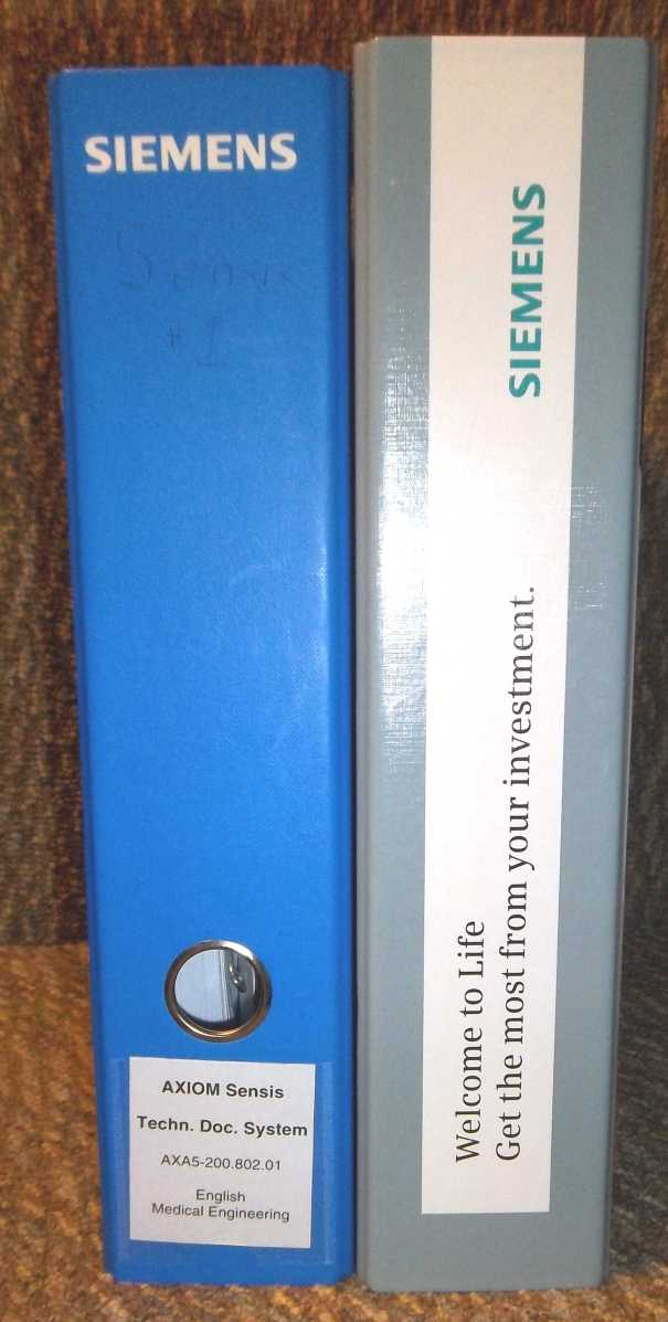 set of 2 Siemens Axiom Sensis Technical manuals manuals books service manuals