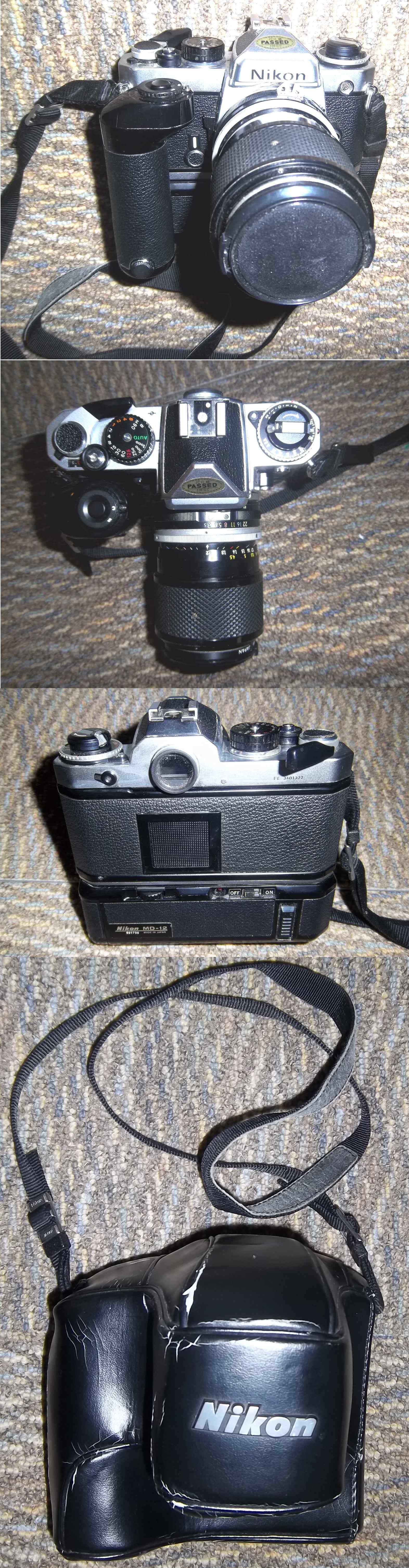 Nikon FM-2 MD12 Motor Drive SB15 Flash / Tele Lens cameras