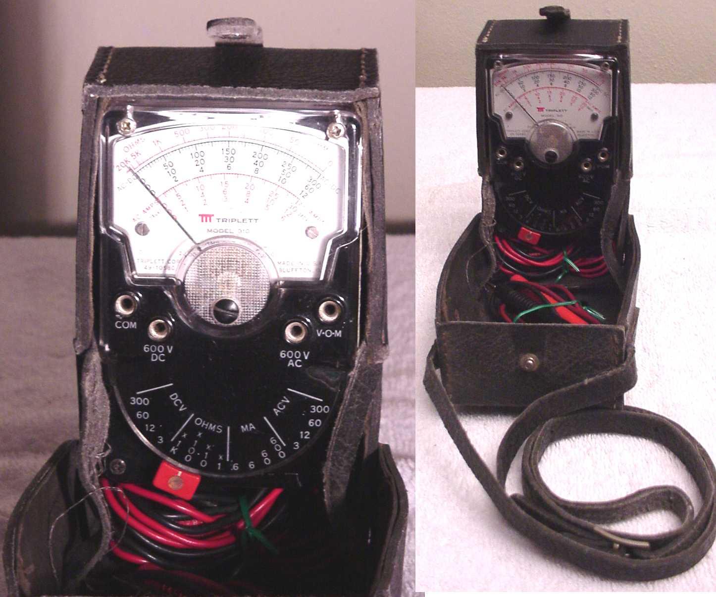Used working Triplett 310vAnalog Volt Ohmeter vom meters