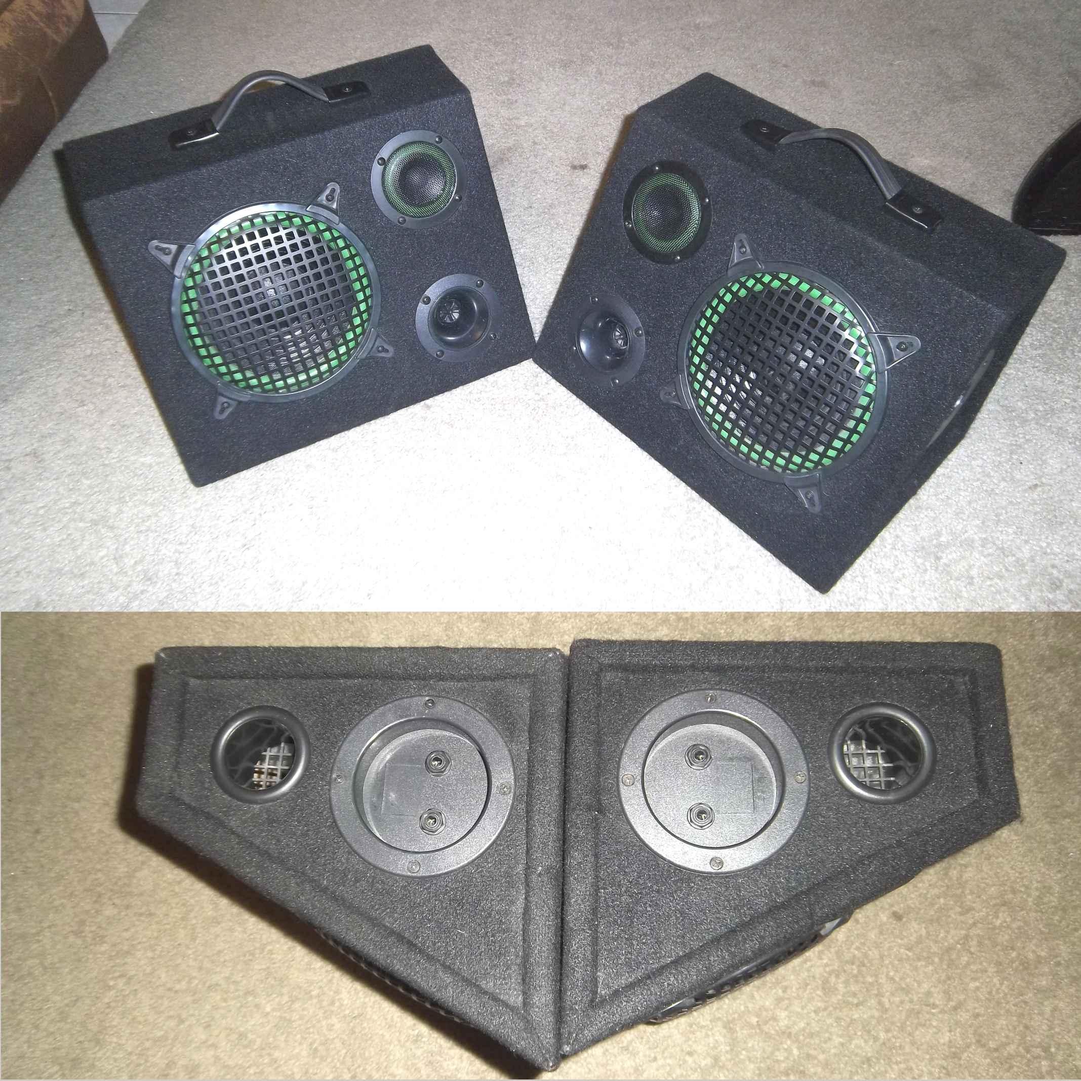 3 way drive wedge speakers - wattage unknown speakers