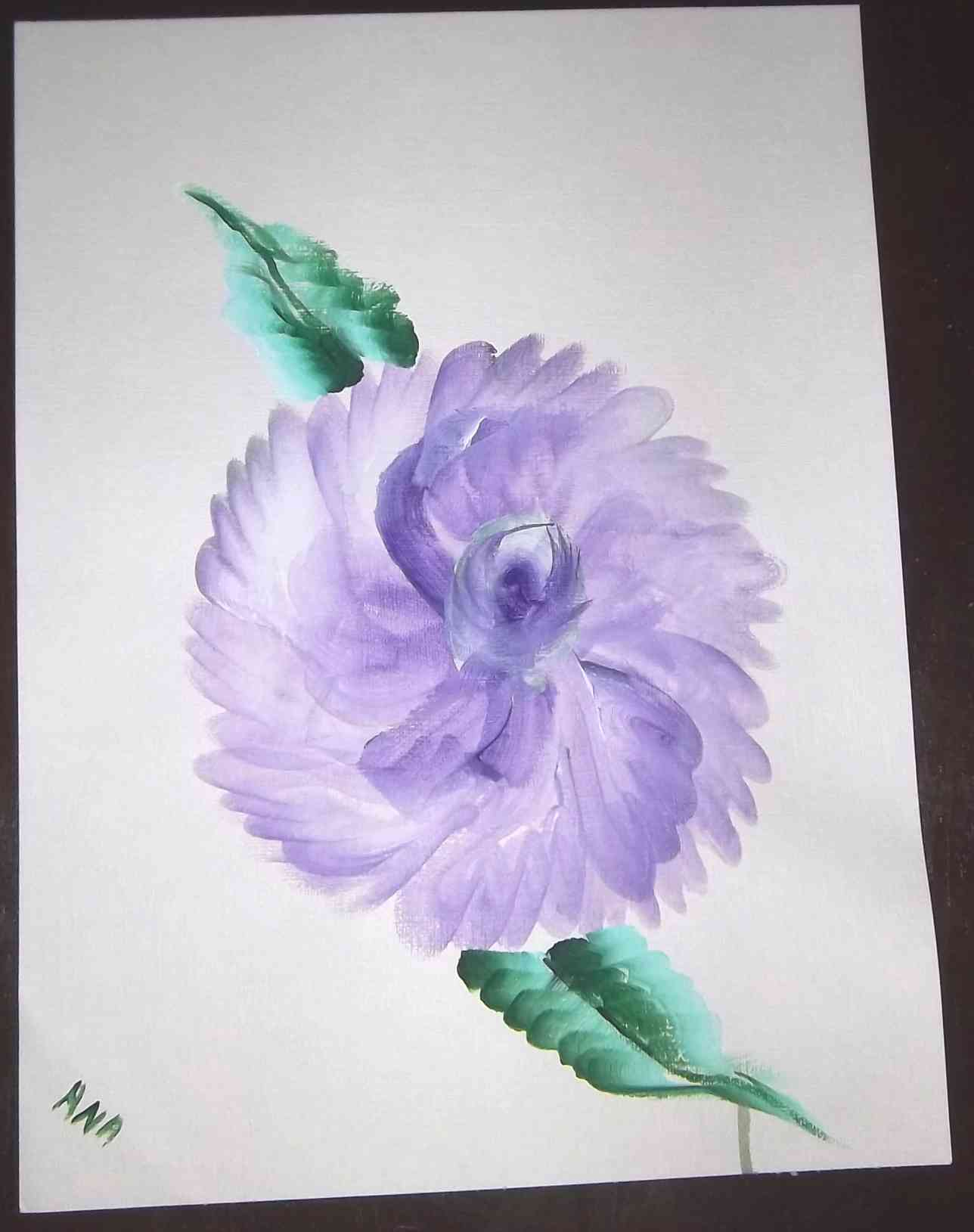 Violet Flowers water color on acrylic paper