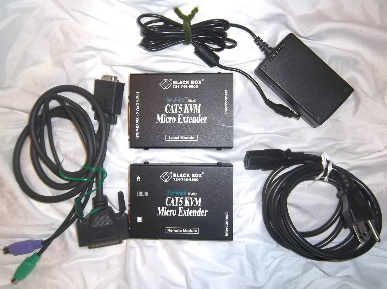 Black Box Cat 5 KVM Micro Extender Kit