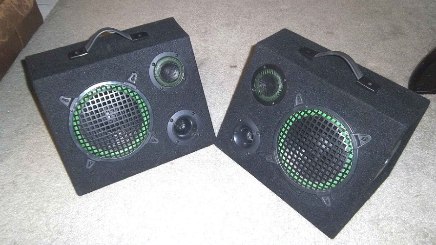 Wedge Speakers 3 way