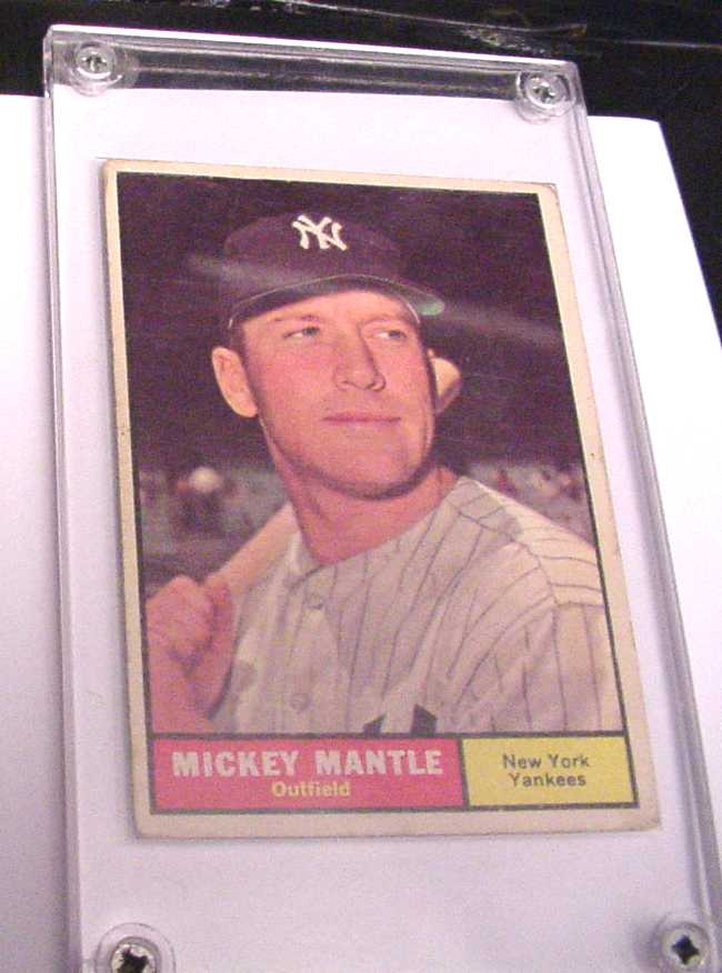 VG condition Mickey Mantle baseball cards